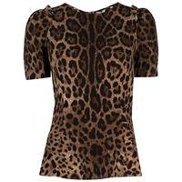 Dolce & Gabbana top con stampa - marrone