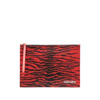 Kenzo clutch con stampa - rosso