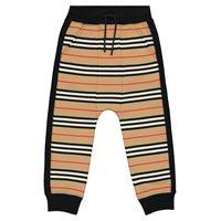 Burberry Kids pantaloni sportivi a righe in cotone