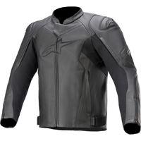 Alpinestars giacca moto pelle Alpinestars faster v2 nero nero