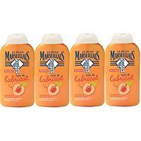 Le Petit Marseillais petit marseillais - shampoo extra dolce 2-in-1 all'albicocca, 250 ml, lotto di 4
