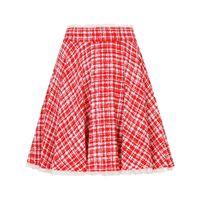 Dolce & Gabbana minigonna in tweed - rosso