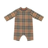 Burberry Kids baby - tutina a quadri in cotone
