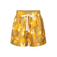 Lee Mathews shorts wren in misto lino