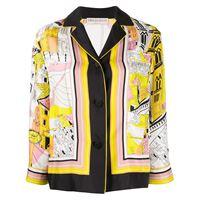 Emilio Pucci camicia battistero con stampa - giallo