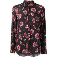 Adam Lippes camicia a fiori - nero