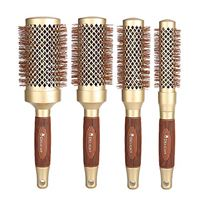 Hairkair 4 pieces spazzola per capelli professionale rotonda capelli set 4 ceramica rotondo disponibile in 4 diverse dimensioni: 1 '', 1.3 '', 1.7 '', 2.1 '' (d'oro)