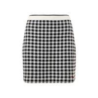MIU MIU minigonna in maglia di lana stampa gingham