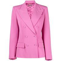 Alberta Ferretti blazer doppiopetto - rosa