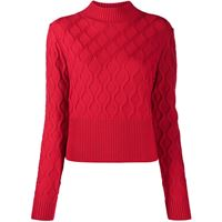 Perfect Moment maglione carving - rosso