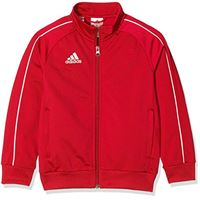 adidas core 18 tk t, giacca unisex bambini, rosso (power red/white), 116 (5-6 y)