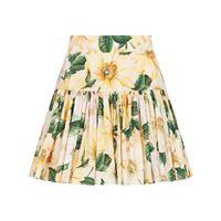 Dolce & Gabbana minigonna a fiori - toni neutri