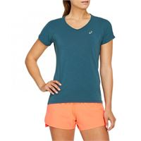 Asics v-neck ss top t-shirt running donna