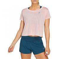 Asics race crop ss top t-shirt running donna