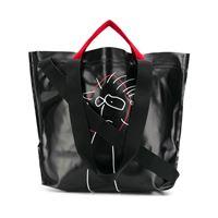 Plan C borsa shopper con stampa - nero
