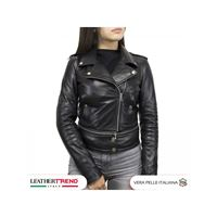 Leather Trend Italy tokyo - chiodo donna in vera pelle morbida made in italy