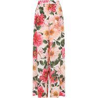 Dolce & Gabbana pantaloni a fiori - rosa