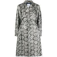 Koché cappotto con stampa serpente - grigio