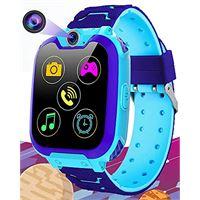 Vannico smartwatch per bambini con 7 giochi - musica mp3 orologio intelligente bambini con telefono camera scheda sd recorder sveglia, regali per ragazzi ragazze