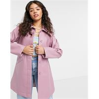 Monki - rori - giacca di vernice rosa con cintura