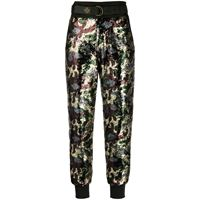 Mr & Mrs Italy pantaloni con stampa camouflage - verde
