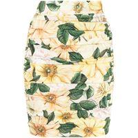 Dolce & Gabbana minigonna a fiori - giallo