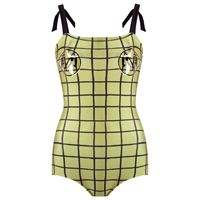 Adriana Degreas grid swimsuit - verde