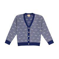 Gucci Kids cardigan in jacquard gg di lana
