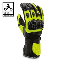 BEFAST guanti moto pelle racing befast tronic certificati ce nero giallo
