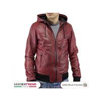 Leather Trend Italy bomber napoli cap - giubbotto uomo in vera pelle invecchiata made in