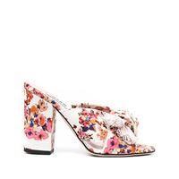 MSGM sandali a fiori - toni neutri