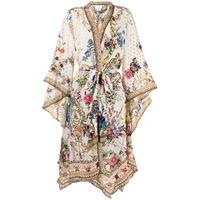 Camilla giacca a fiori - bianco