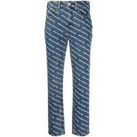 Alexander Wang jeans dritti a vita alta - blu