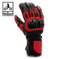 BEFAST guanti moto pelle racing befast tronic certificati ce nero rosso