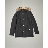Woolrich parka detachable fur nero 10-16 anni