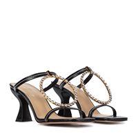 JW Anderson sandali in pelle con cristalli