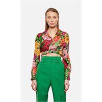 Gucci short silk shirt with ken scott print
