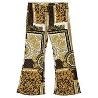 Versace Kids pantaloni flared a stampa barocco patchwork