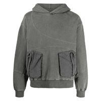 C2h4 felpa con cappuccio - grigio