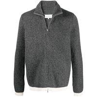 Maison Margiela cardigan con zip - grigio