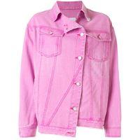 SJYP giacca denim asimmetrica - rosa