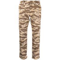 Nili Lotan pantaloni crop con stampa camouflage - toni neutri