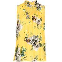 Erdem top ralph carnation bouquet con stampa - giallo
