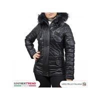Leather Trend Italy nevada - parka donna in vera pelle di agnello nappa