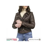 Leather Trend Italy tokyo - chiodo donna in vera pelle invecchiata made in italy