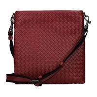 Bottega Veneta borse a tracolla uomo pelle rosso rosso scuro one size