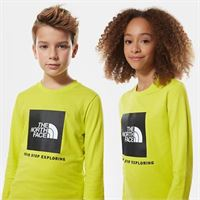 TheNorthFace the north face t-shirt a maniche lunghe con logo bambini new box sulphur spring green taglia m donna