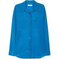 Equipment camicia aderente - blu