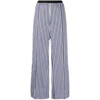 Plan C pantaloni dritti a righe - blu