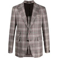 Tagliatore giacca a quadri - marrone